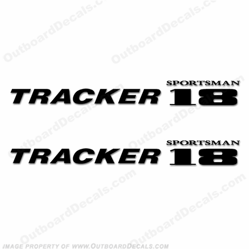 Tracker Sportsman 18 Boat Logo Decals - Any Color!