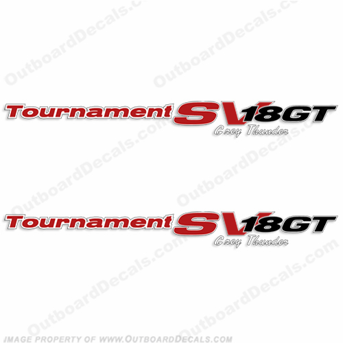 "Tracker Tournament SV 18GT ""Grey Thunder"" Decals (Set of 2)"