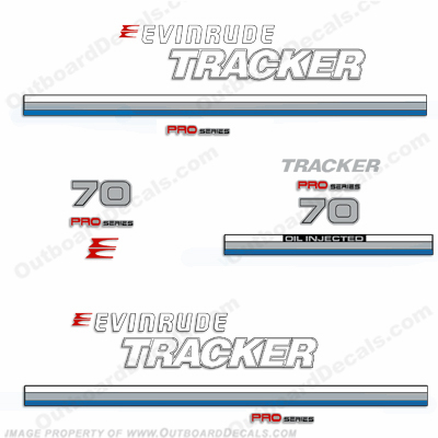 Evinrude 1981 Tracker 70hp Decal Kit - Blue