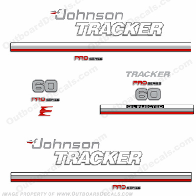 Johnson 1981 Tracker 60hp Decal Kit - Red