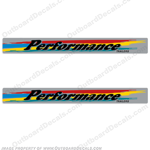 Performance Boat Trailer Decals (Set of 2)