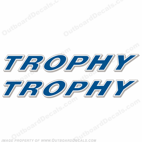 Trophy Boats Logo Decal (Set of 2)