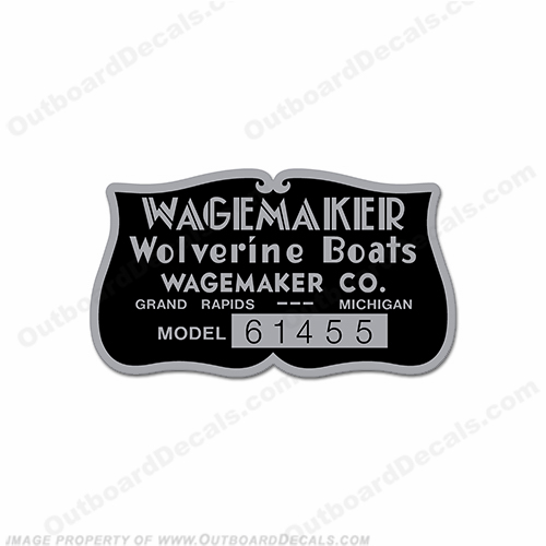 Wagemaker Wolverine Boats Decal