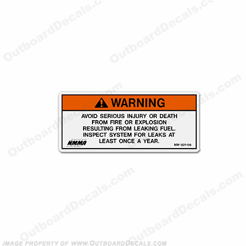 Warning Decal - NW-201-06 Leaking Fuel...