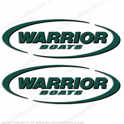 Warrior Boats Logo Decals (Set of 2) - Any Color!