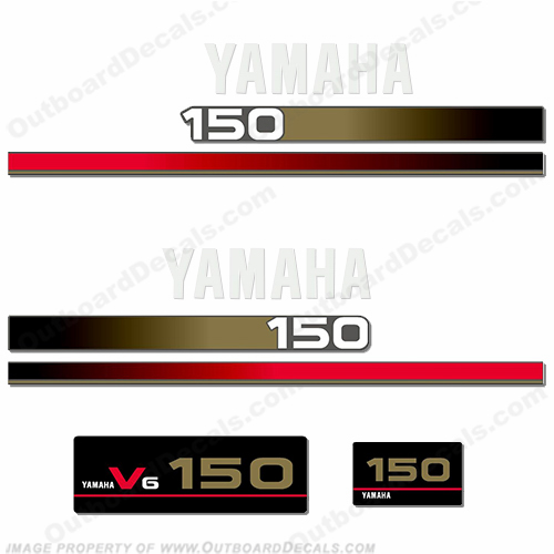 Yamaha 150hp V6 Older Style Decals