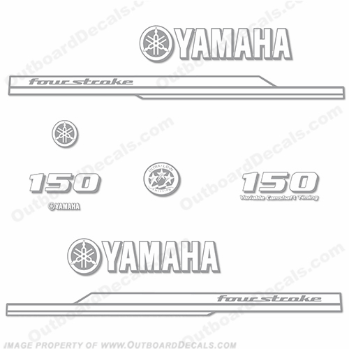 Yamaha 150hp FourStroke Decal Kit - Any Color! - 2008+ one, color, 150, four, stroke, 4, 2008, 2009, 2010, 2011, 2012, 2013, 2014, 2014, 2015, 2016, 2017, 2018