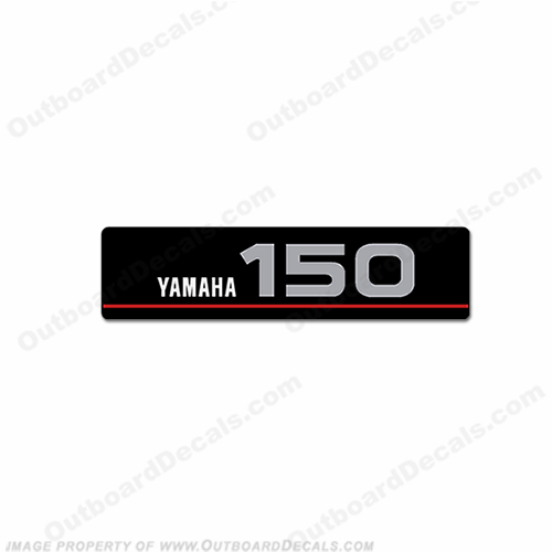 Yamaha Single Front 150 Saltwater Series Decal (Silver)