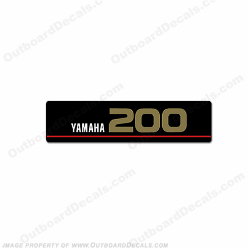 Yamaha Single Front 200 Saltwater Series Decal (Gold)