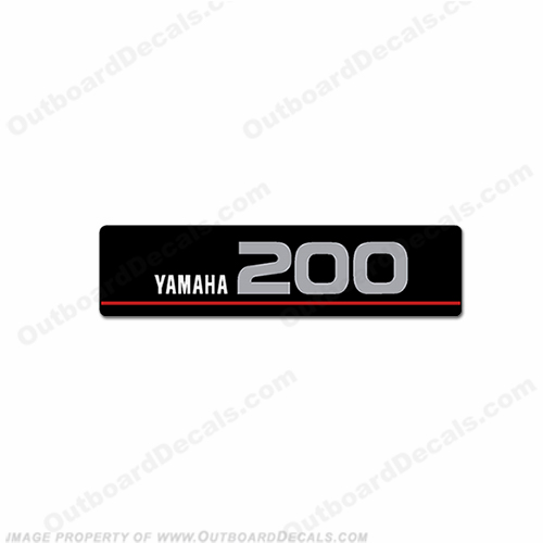 Yamaha Single Front 200 Saltwater Series Decal (Silver)