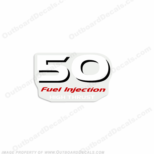 "Yamaha ""50 Fuel Injected High Thrust"" Decal - Rear"