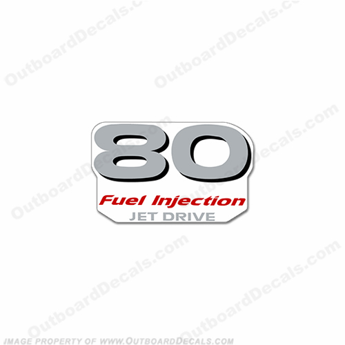 "Yamaha ""80 Fuel Injected"" Decal - Rear"