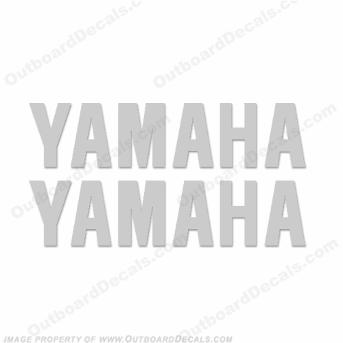 Yamaha Decals (set of 2) Silver