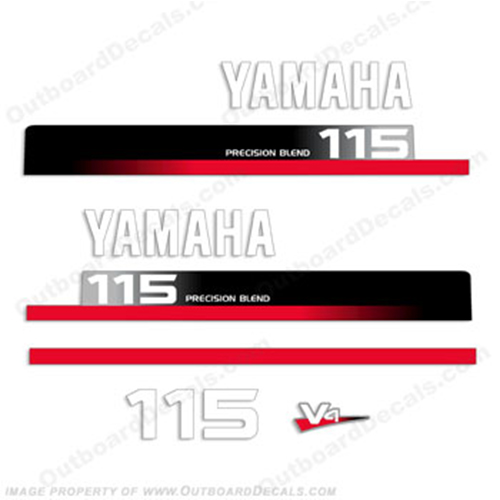 Yamaha 115hp Decal Kit - 1990s