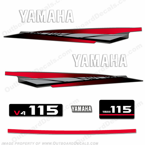 Yamaha 115hp 2-Stroke Decal Kit - 2002 - 2006