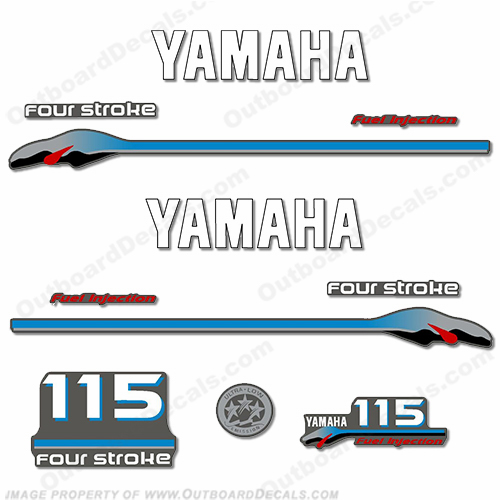 Yamaha 115hp 4-stroke 2000 Model Decals