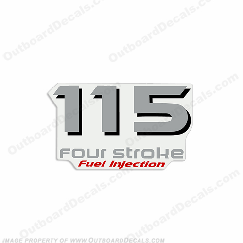 "Yamaha Single ""115 Fourstroke"" Decal - Rear"