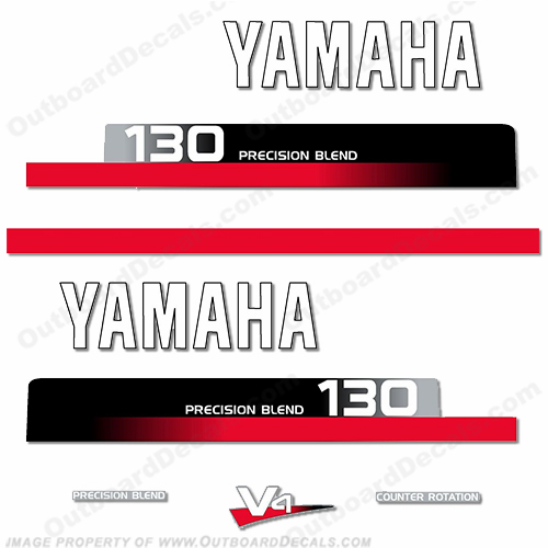 Yamaha 130hp Decal Kit - 1990s