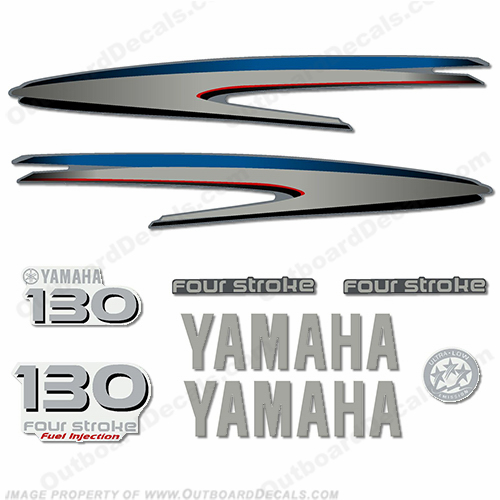 Yamaha 130hp 4-Stroke Decal Kit