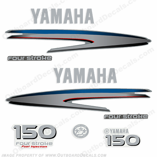 Yamaha 150hp 4-stroke Decals - 2002 - 2006+