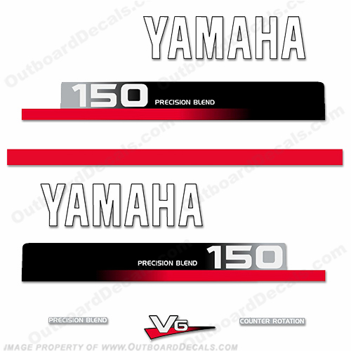Yamaha 150hp Decal Kit - 1990s