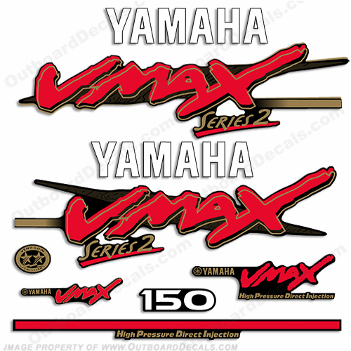 Yamaha 150hp VMAX Series 2 Decals