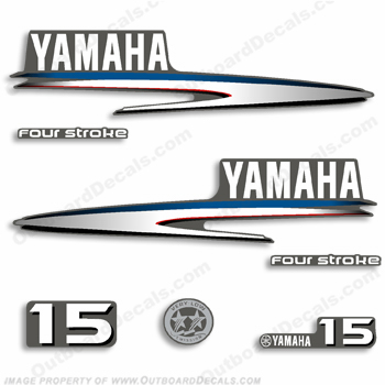 Yamaha 15hp Fourstroke Decals