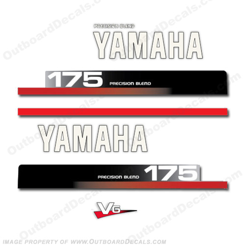 Yamaha 175hp V6 Decal Kit - 1990s