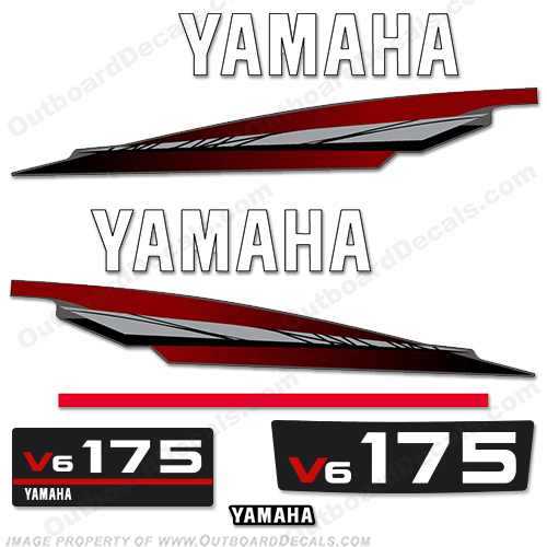 Yamaha 175hp 2-Stroke Decal Kit - 1998 - 2001 175, two stroke, 2 stroke, 98, 99, 2000