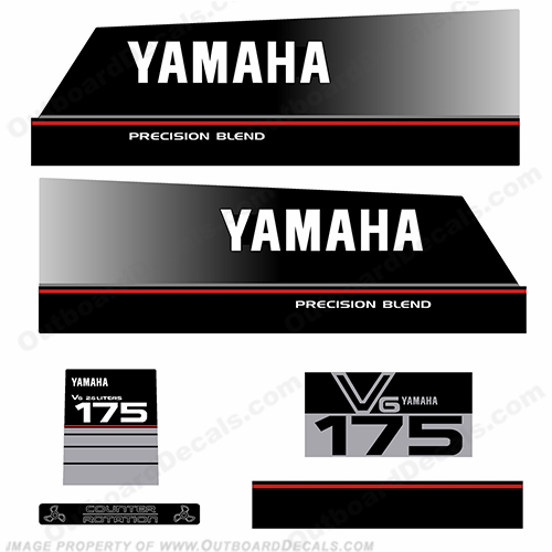Yamaha 175hp Precision Blend Decals