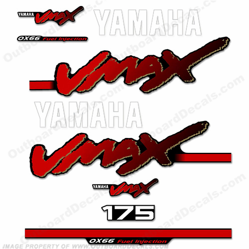 Yamaha 175hp Vmax OX66 Decals 1998-2004 175, 99, 01, 02, 03