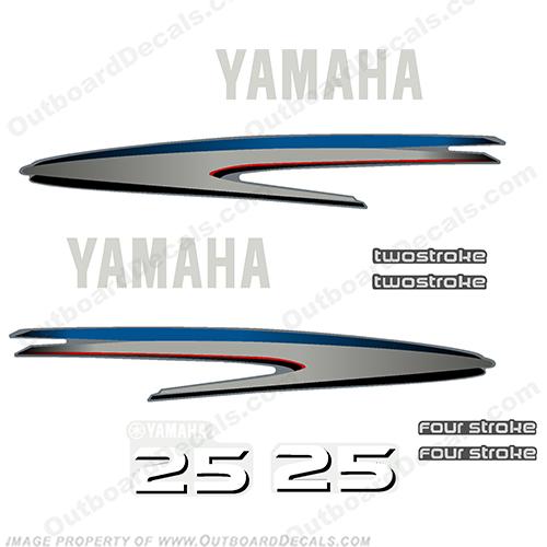 Yamaha 25hp Decals
