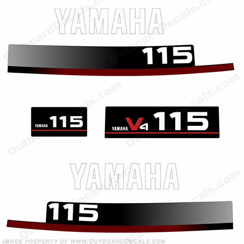 Yamaha 115hp Decals 1994 - 1997