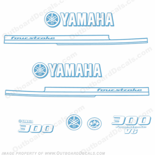 Yamaha 2010 Style 300hp Decals - Any Color