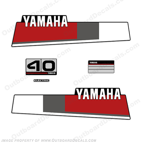 Yamaha 1984-1987 40hp Decals 40, hp, 40 hp, 1984, 1985, 1986, 1987, forty horsepower,