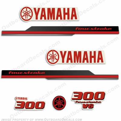 Yamaha 2010 Style 300hp Decals - Red