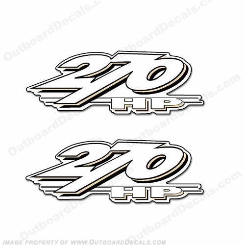 Yamaha LS2000 270hp Decals (Set of 2) - Beige