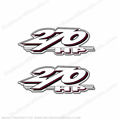 Yamaha LS2000 270hp Decals (Set of 2) - Burgundy