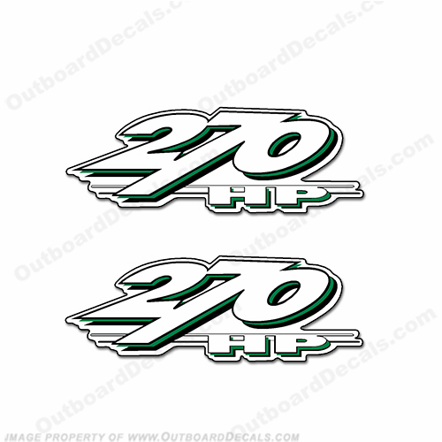 Yamaha LS2000 270hp Decals (Set of 2) - Green