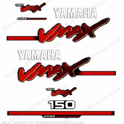 Yamaha 150hp Vmax Decals 1998-2004