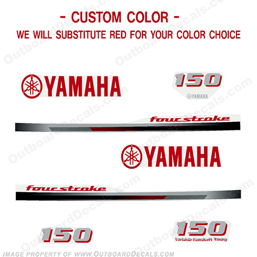 Yamaha 150hp FourStroke Decal Kit - Any Color! - 2013+